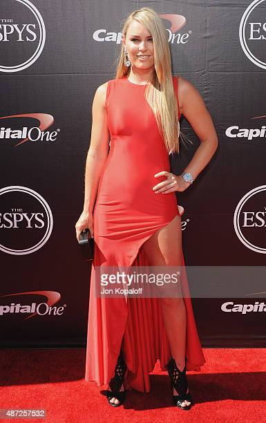Lindsey Vonn arrives at The 2015 ESPYS at Microsoft Theater on July 15, 2015 in Los Angeles, California.