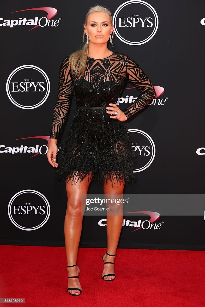 Lindsey Vonn arrives at the 2017 ESPYS at Microsoft Theater on July 12, 2017 in Los Angeles, California.