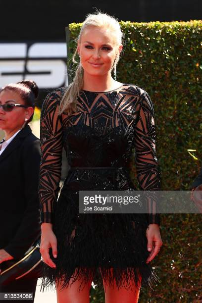 Lindsey Vonn arrives at the 2017 ESPYS at Microsoft Theater on July 12 2017 in Los Angeles California