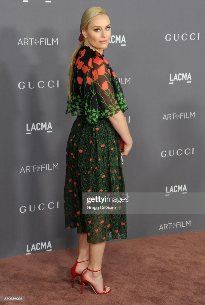 Lindsey Vonn arrives at the 2017 LACMA Art + Film Gala honoring Mark Bradford and George Lucas at LACMA on November 4, 2017 in Los Angeles, California.