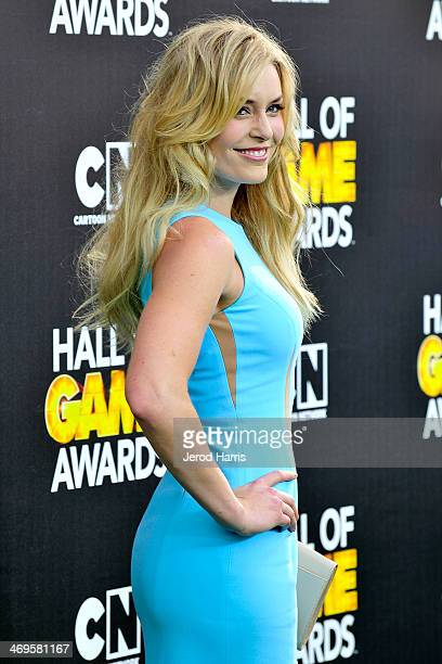 Lindsey Vonn arrives at the 4th Annual Cartoon Network Hall Of Game Awards at Barker Hangar on February 15 2014 in Santa Monica California