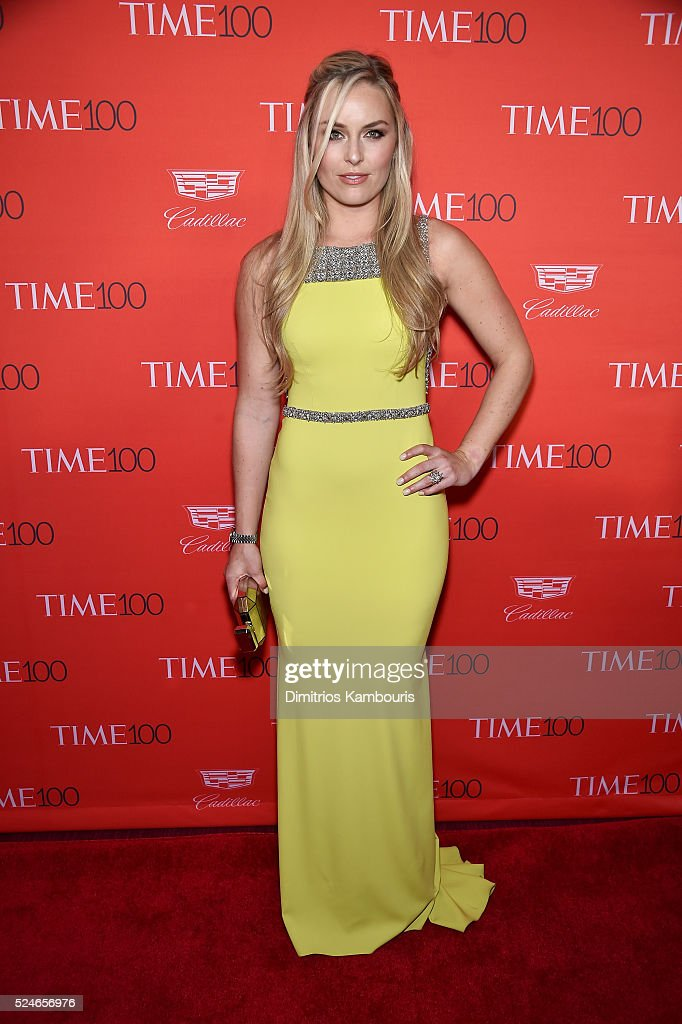 Lindsey Vonn attends 2016 Time 100 Gala, Time's Most Influential People In The World red carpet at Jazz At Lincoln Center at the Times Warner Center on April 26, 2016 in New York City.