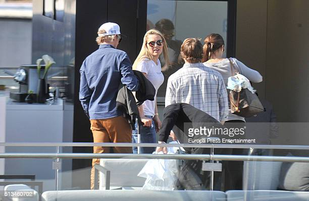 Lindsey Vonn attends day two of F1 winter testing at Circuit de Catalunya on March 2, 2016 in Montmelo, Spain.