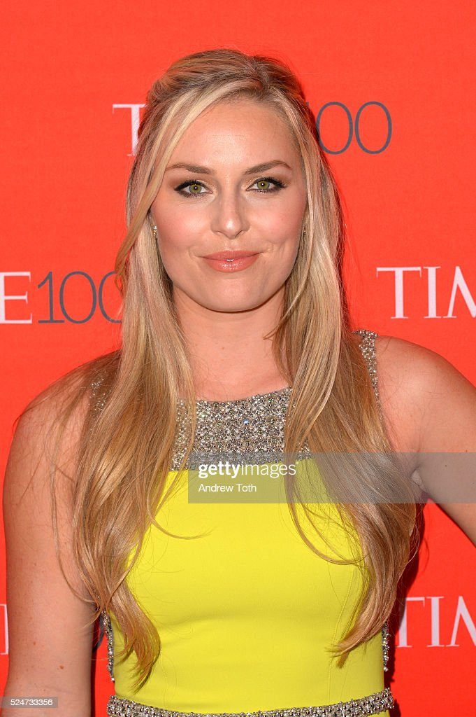 Lindsey Vonn attends the 2016 Time 100 Gala at Frederick P. Rose Hall, Jazz at Lincoln Center on April 26, 2016 in New York City.