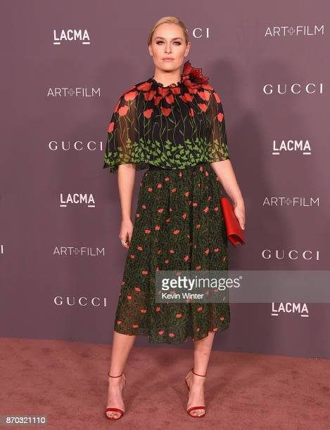 Lindsey Vonn attends the 2017 LACMA Art Film Gala Honoring Mark Bradford And George Lucas at LACMA on November 4 2017 in Los Angeles California