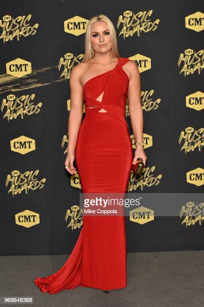 Lindsey Vonn attends the 2018 CMT Music Awards at Bridgestone Arena on June 6 2018 in Nashville Tennessee