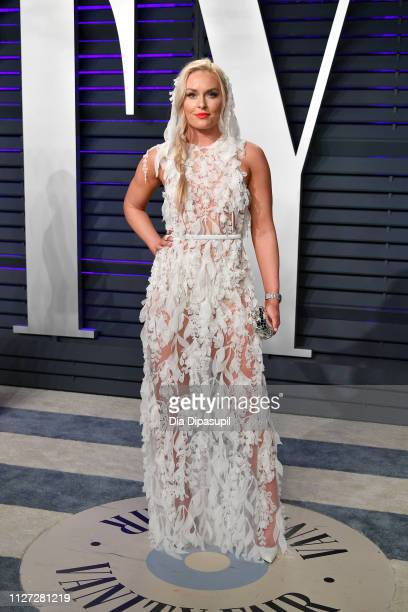 Lindsey Vonn attends the 2019 Vanity Fair Oscar Party hosted by Radhika Jones at Wallis Annenberg Center for the Performing Arts on February 24 2019...