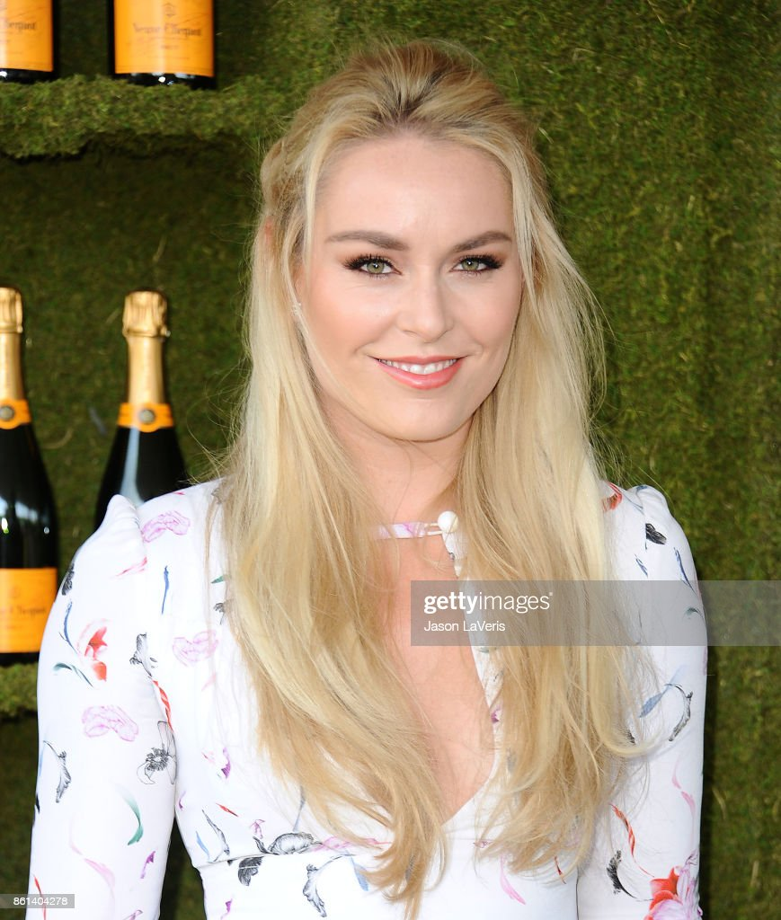 Lindsey Vonn attends the 8th annual Veuve Clicquot Polo Classic at Will Rogers State Historic Park on October 14, 2017 in Pacific Palisades, California.