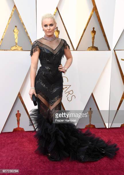 Lindsey Vonn attends the 90th Annual Academy Awards at Hollywood Highland Center on March 4 2018 in Hollywood California
