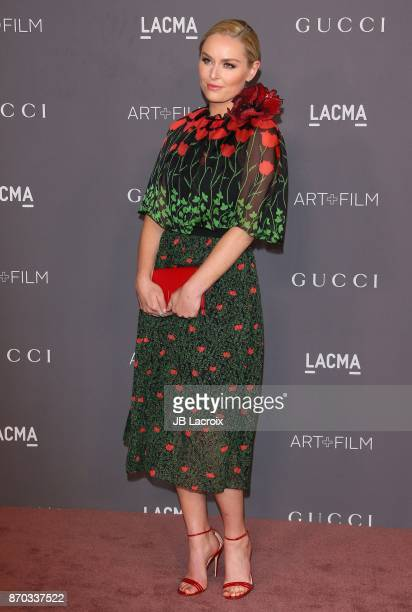 Lindsey Vonn attends the LACMA Art + Film Gala honoring Mark Bradford and George Lucas on November 04, 2017 in Los Angeles, California.
