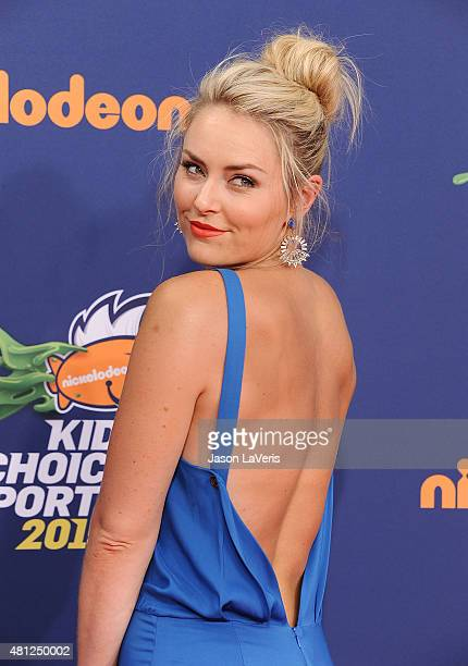 Lindsey Vonn attends the Nickelodeon Kids' Choice Sports Awards at UCLA's Pauley Pavilion on July 16 2015 in Westwood California