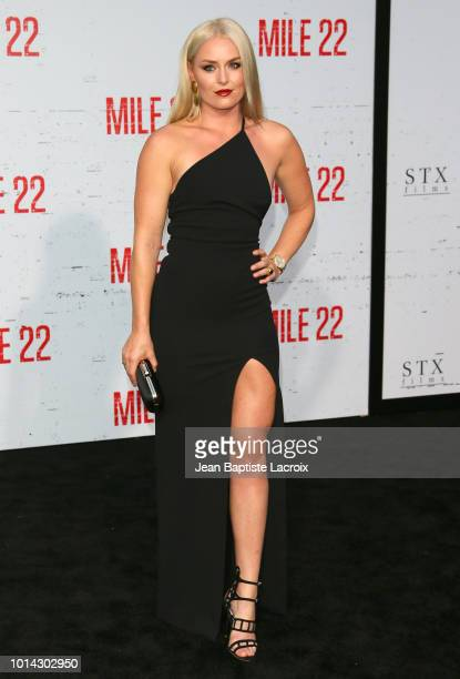 Lindsey Vonn attends the premiere of STX Films' 'Mile 22' at Westwood Village Theatre on August 9 2018 in Westwood California