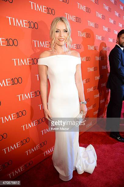 Lindsey Vonn attends TIME 100 Gala TIME's 100 Most Influential People In The World at Jazz at Lincoln Center on April 21 2015 in New York City