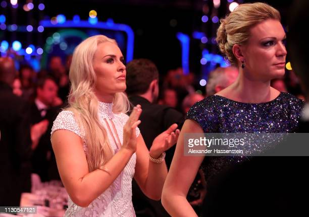 Lindsey Vonn claps during the show 2019 Laureus World Sports Awards on February 18, 2019 in Monaco, Monaco.