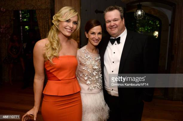 Lindsey Vonn Cynthia Rowley and Eric Stonestreet attend the Bloomberg Vanity Fair cocktail reception following the 2014 WHCA Dinner at Villa Firenze...