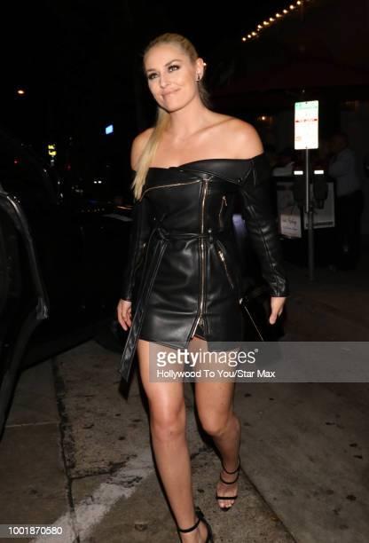 Lindsey Vonn is seen on July 18 2018 in Los Angeles CA