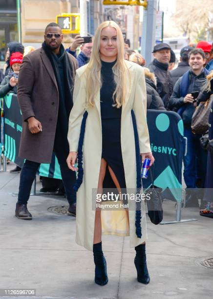 Lindsey Vonn is seen outside Build Studio on February 21 2019 in New York City