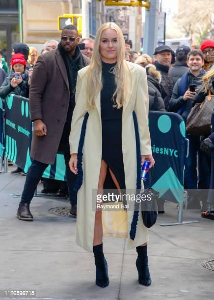 Lindsey Vonn is seen outside Build Studio on February 21 2019 in New York City