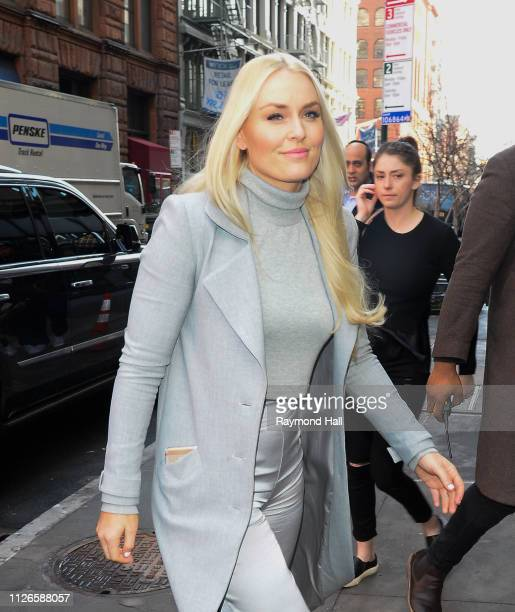 Lindsey Vonn is seen walking in Soho on February 21 2019 in New York City