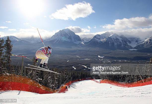 Lindsey Vonn of the United States competes during the Audi FIS Alpine Ski World Cup Women's Downhill training on December 1 2010 in Lake Louise...