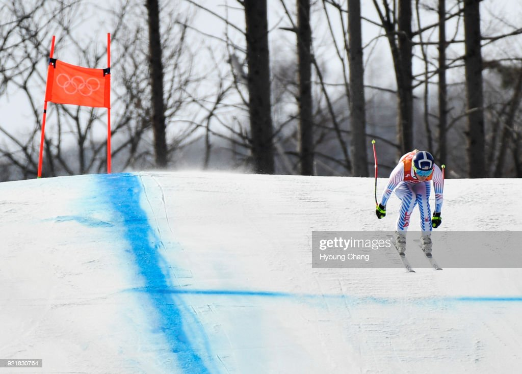 Lindsey Vonn of the United States competes during the Ladies' Downhill on day 12 of the PyeongChang 2018 Winter Olympic Games at Jeongseon Alpine Centre. February 21, 2018