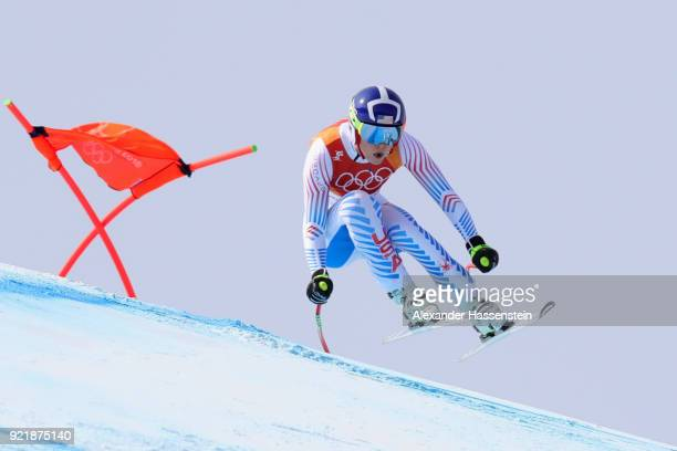 Lindsey Vonn of the United States competes during the Ladies' Downhill on day 12 of the PyeongChang 2018 Winter Olympic Games at Jeongseon Alpine...