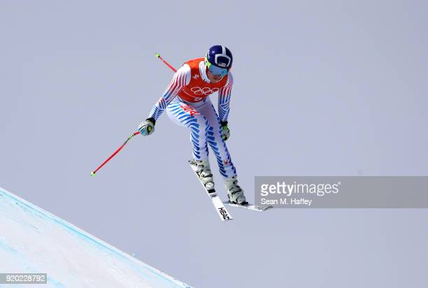 Lindsey Vonn of the United States makes a run during Alpine Skiing Ladies' Downhill Training on day 10 of the PyeongChang 2018 Winter Olympic Games...