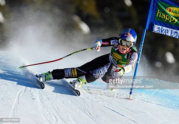 Lindsey Vonn of the USA competes during the Audi FIS Alpine Ski World Cup Women's SuperG on December 08 2013 in Lake Louise Canada
