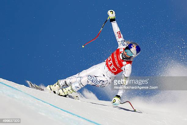 Lindsey Vonn of the USA competes during the Audi FIS Alpine Ski World Cup Women's Downhill Training on December 02 2015 in Lake Louise Canada