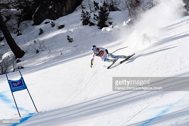 Lindsey Vonn of the USA competes during the Audi FIS Alpine Ski World Cup Women's SuperG on January 24 2016 in Cortina d'Ampezzo Italy