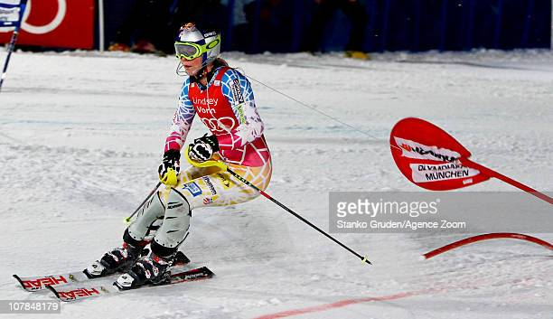 Lindsey Vonn of the USA during the Audi FIS Alpine Ski World Cup Men's and Women's Parallel Slalom on January 2, 2011 in Munich, Germany.
