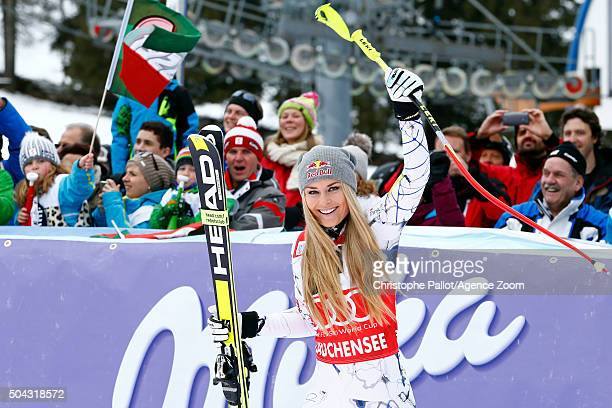 Lindsey Vonn of the USA takes 1st place during the Audi FIS Alpine Ski World Cup Women's SuperG on January 10 2016 in AltenmarktZauchensee Austria