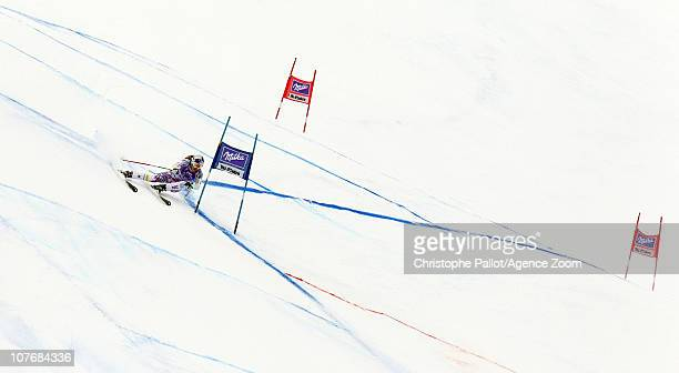 Lindsey Vonn of the USA takes 1st place during the Audi FIS World Cup Alpine skiing Women's Super GSuper Combined on December 19 2010 in Val d'Isere...