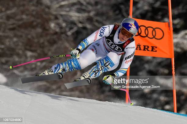 Lindsey Vonn of USA competes during the FIS World Ski Championships Women's Downhill on February 10 2019 in Are Sweden