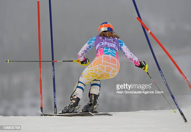 Lindsey Vonn of USA during the Audi FIS Alpine Ski World Cup Women's Slalom on November 13 2010 in Levi Finland