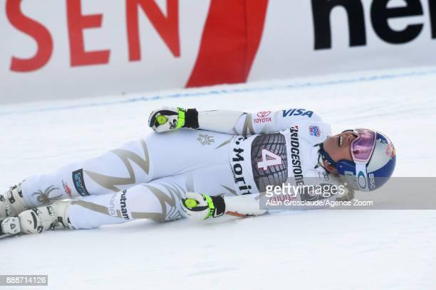 Lindsey Vonn of USA during the Audi FIS Alpine Ski World Cup Women's Super G on December 9 2017 in St Moritz Switzerland