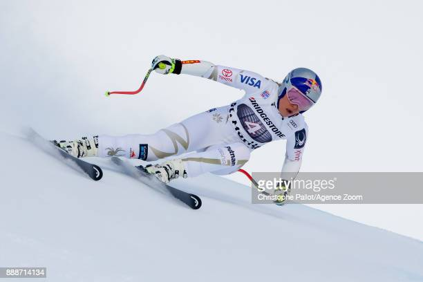 Lindsey Vonn of USA in action during the Audi FIS Alpine Ski World Cup Women's Super G on December 9 2017 in St Moritz Switzerland
