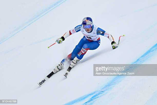 Lindsey Vonn of USA in action during the Audi FIS Alpine Ski World Cup Women's Combined on January 26 2018 in Lenzerheide Switzerland
