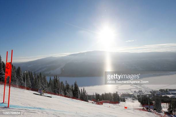 Lindsey Vonn of USA in action during the FIS World Ski Championships Women's Downhill Training on February 4 2019 in Are Sweden