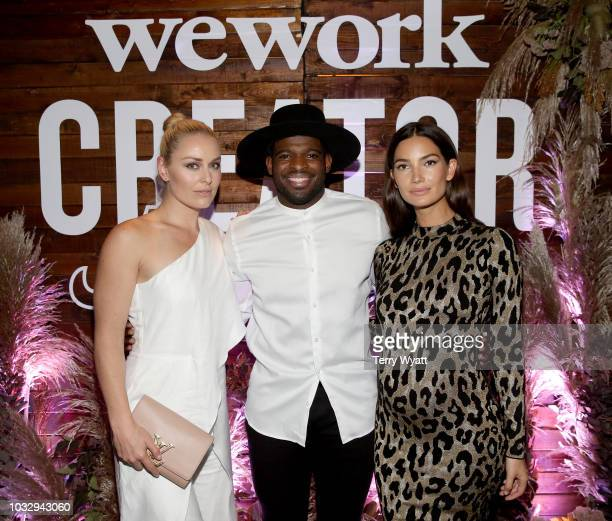 Lindsey Vonn P K Subban and Lily Aldridge attend the Nashville Creator Awards hosted by WeWork at Marathon Music Works on September 13 2018 in...