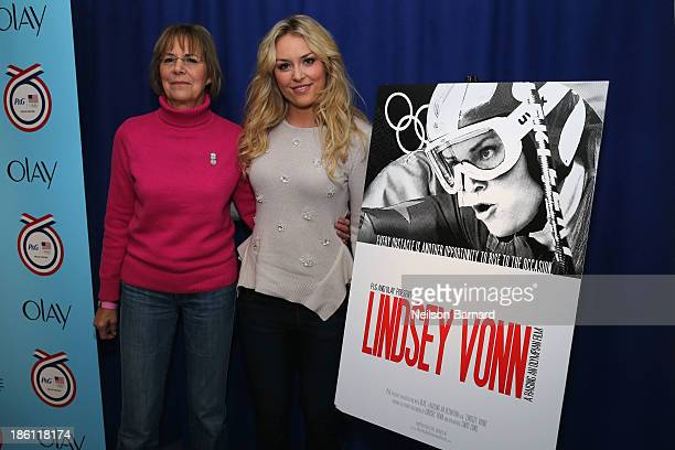 Lindsey Vonn US Olympian and her Mom Lindy Lund join PG to kickoff The 2014 Sochi Olympic Winter Games 'Thank You Mom' campaign with a screening of...