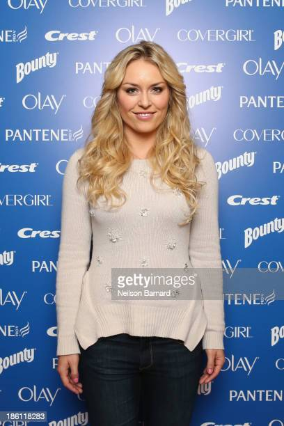 Lindsey Vonn US Olympian joins PG to kickoff The 2014 Sochi Olympic Winter Games 'Thank You Mom' campaign with a screening of their 'Raising an...