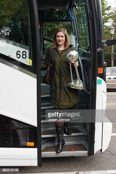 Lindsey Whalen of the Minnesota Lynx visit the Minnesota Governor's Residence on October 6 2017 at The University of Minnesota Williams Arena in...