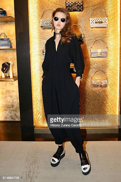 Lindsey Wixson attends Palazzo FENDI And ZUMA Inauguration on March 10 2016 in Rome Italy