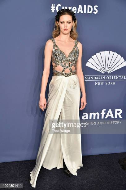 Lindsey Wixson attends the 2020 amfAR New York Gala on February 05, 2020 in New York City.