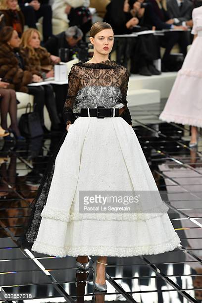 Lindsey Wixson walks the runway during the Chanel Spring Summer 2017 show as part of Paris Fashion Week on January 24 2017 in Paris France