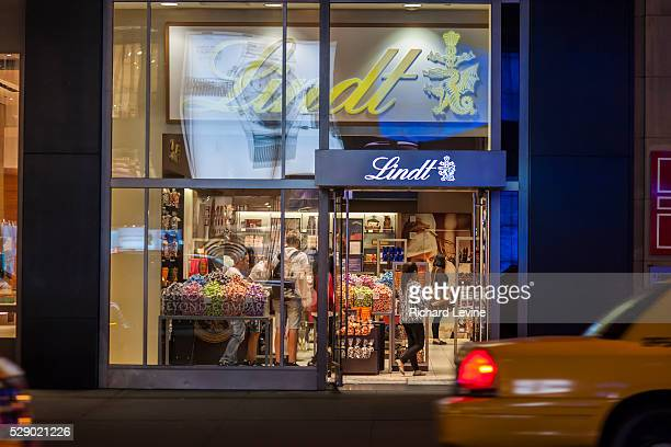 Lindt chocolatier on Fifth Avenue in Midtown Manhattan in New York on Tuesday, October 1, 2013. Lindt & Spr��ngli announced a major expansion plan,...