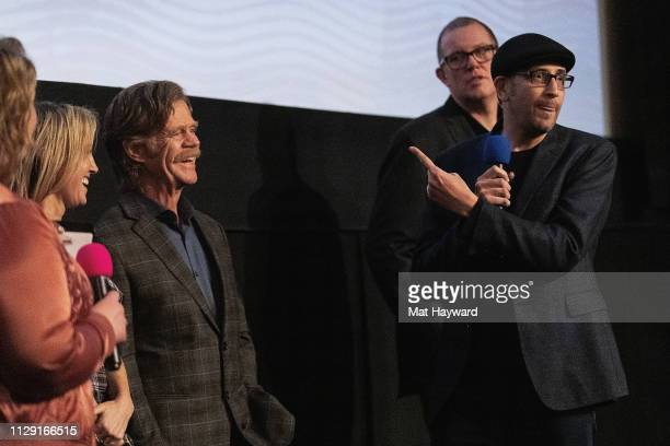 Lindy Boustedt, Rachel Winter, William H. Macy, Bradley Jay Kaplan and Sean Lydiard speak during a Q&A hosted by TheFilmSchool after a screening of...