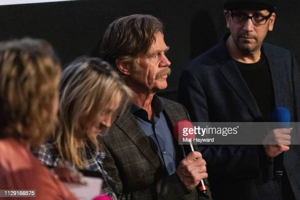 """Lindy Boustedt, Rachel Winter, William H. Macy, Bradley Jay Kaplan speak during a Q&A hosted by TheFilmSchool after a screening of the film """"Stealing..."""