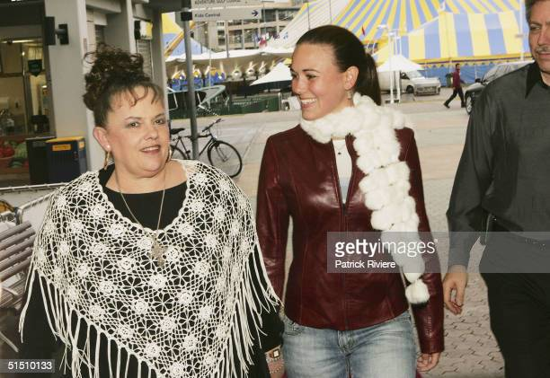"""Lindy Chamberlain and daughter Kahlia arrive at the media launch of Channel 7's upcoming mini-series """"Through My Eyes"""" at Fox Studios on October 20,..."""